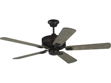 Monte Carlo Fans Artizan Aged Pewter 56'' Wide LED Indoor / Outdoor Ceiling Fan with Light Grey Weathered Oak Blades MCF5AZR56AGP
