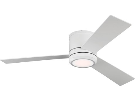 Monte Carlo Fans Clarity Max Matte White 56'' Wide LED Indoor / Outdoor Ceiling Fan