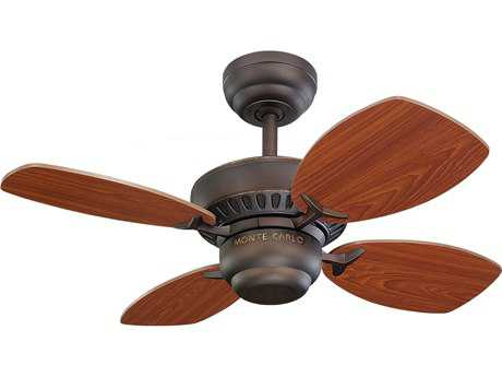 Monte Carlo Fans Colony II Roman Bronze 28'' Wide Indoor Ceiling Fan MCF4CO28RB