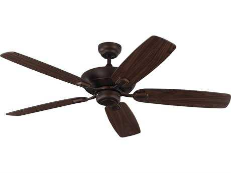 Monte Carlo Fans Colony Max Roman Bronze & American Walnut and Bronze Blades 52'' Wide Indoor/Outdoor Ceiling Fan MCF5COM52RB