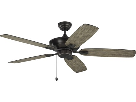 Monte Carlo Fans Colony Max Aged Pewter 52'' Wide Indoor / Outdoor Ceiling Fan with Light Grey Weathered Oak Blades MCF5COM52AGP