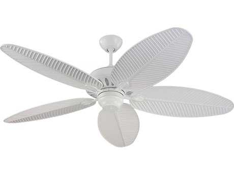 Monte Carlo Fans Cruise White 52'' Wide Outdoor Ceiling Fan MCF5CU52WH