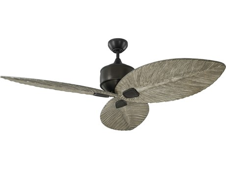 Monte Carlo Fans Delray Aged Pewter 56'' Wide Outdoor Ceiling Fan with Light Grey Weathered Oak Blades MCF3DLR56AGP