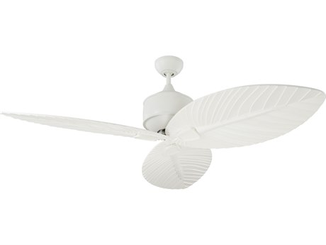 Monte Carlo Fans Delray Matte White 56'' Wide Outdoor Ceiling Fan MCF3DLR56RZW
