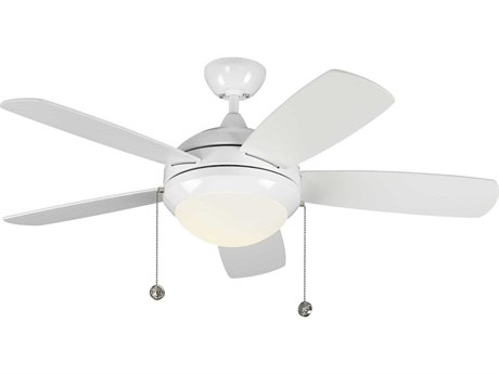 Monte Carlo Fans Discus Classic Ii White / Matte Opal Indoor Ceiling Fan