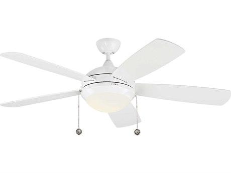 Monte Carlo Fans Discus Classic White / Matte Opal Indoor Ceiling Fan