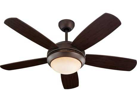 Monte Carlo Fans Discus II Roman Bronze 44'' Wide Indoor Ceiling Fan with Light MCF5DI44RBD