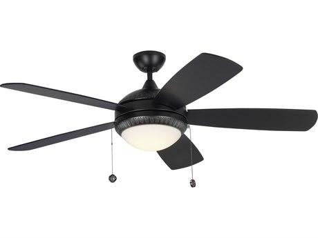 Monte Carlo Fans Discus Ornate Matte Black 52'' Wide LED Indoor Ceiling Fan MCF5DIO52BKD