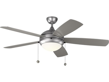 Monte Carlo Fans Discus Outdoor Painted Brushed Steel 52'' Wide LED Outdoor Ceiling Fan MCF5DIW52PBSD