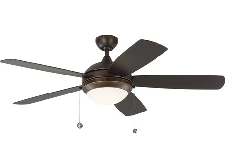 Monte Carlo Fans Discus Outdoor Roman Bronze 52'' Wide LED Outdoor Ceiling Fan MCF5DIW52RBD