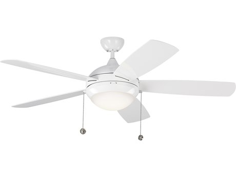 Monte Carlo Fans Discus Outdoor White 52'' Wide LED Outdoor Ceiling Fan MCF5DIW52WHD