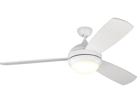 Monte Carlo Fans Discus Trio Max Matte White 58'' Wide LED Indoor / Outdoor Ceiling Fan MCF3DIR58RZWDV1