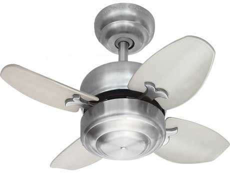 Monte Carlo Fans Mini 20 Brushed Steel 20'' Wide Indoor Ceiling Fan MCF4MC20BS