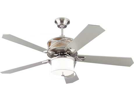 Monte Carlo Fans Piper Brushed Steel 54'' Wide Indoor Ceiling Fan MCF5PPR54BS