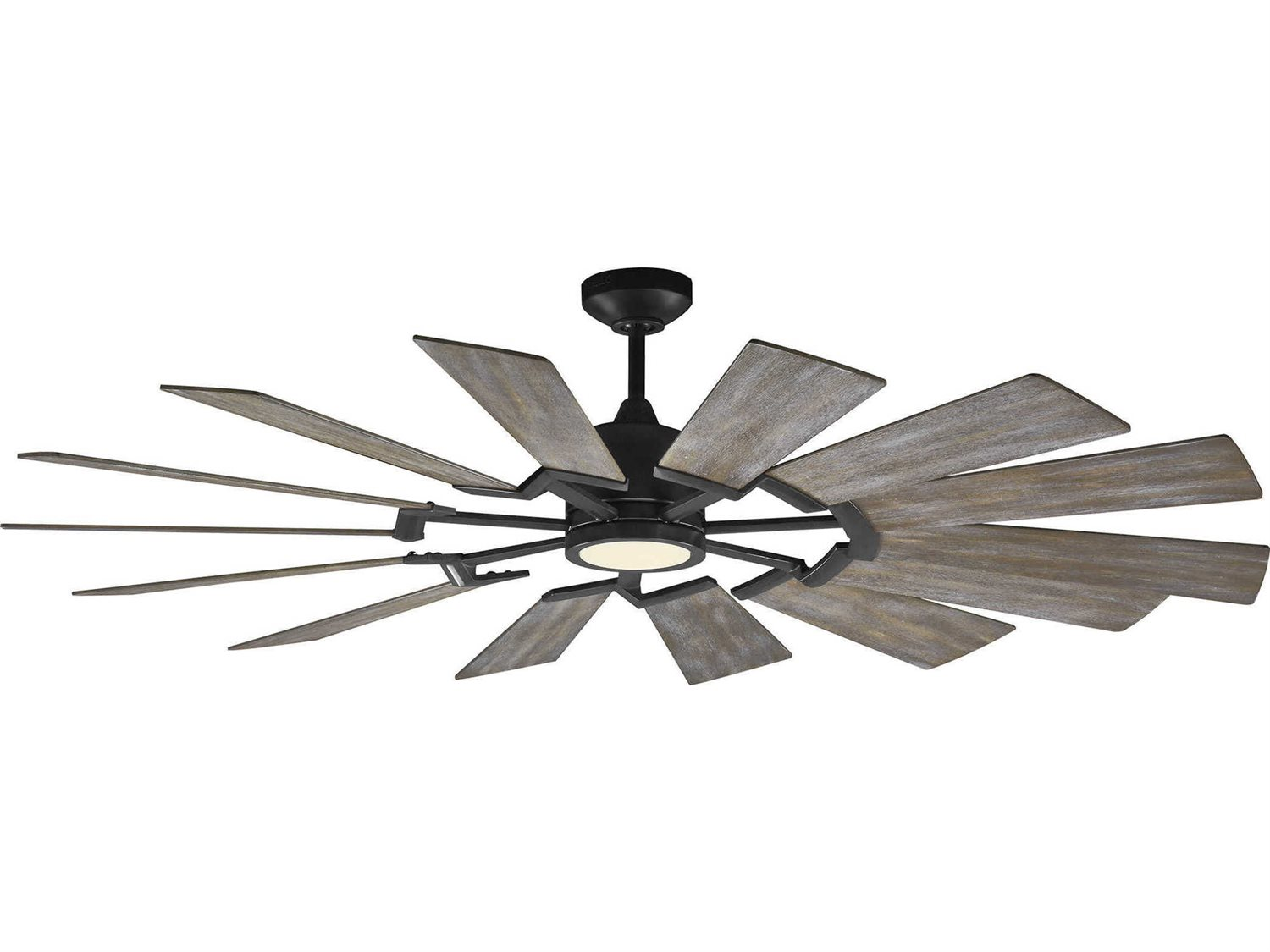 Monte Carlo Fans >> Monte Carlo Fans Prairie Aged Pewter 62 Wide Led Indoor Ceiling Fan With Light Grey Weathered Oak Blades