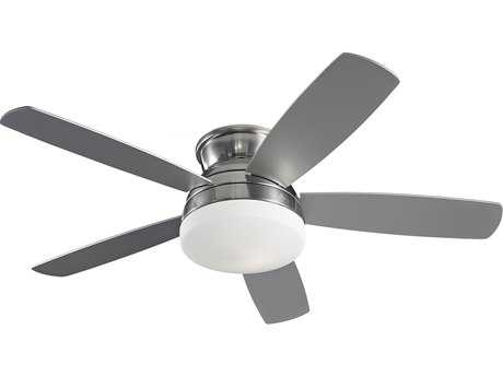Monte Carlo Fans Traverse Brushed Steel 52'' Wide Indoor Ceiling Fan with Light MCF5TV52BSD