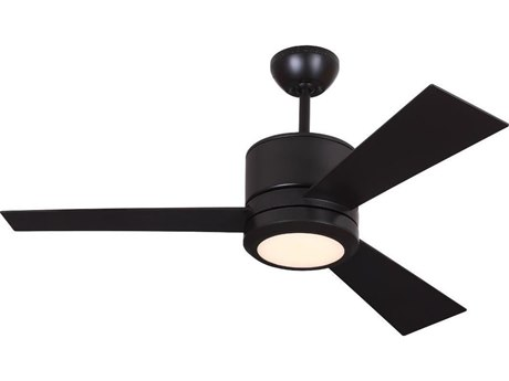 Monte Carlo Fans Vision II Oil Rubbed Bronze 36-Light 42'' Wide LED Indoor Ceiling Fan with Roman Bronze Blades MCF3VNR42OZDV1