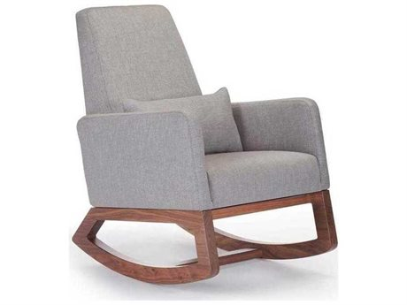 Monte Design Joya Pebble Grey Rocking Chair - Quick Ship MONJOYAROCKERQS
