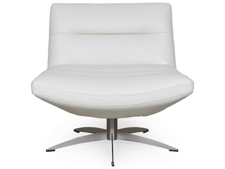 Moroni Alfio White Swivel Accent Chair MOR58006B1296