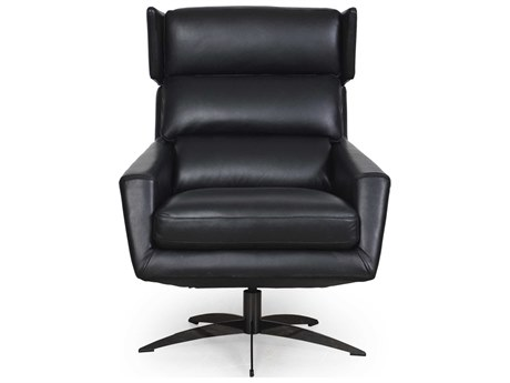 Moroni Hansen Black Swivel Accent Chair MOR58606B1298