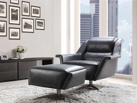 Moroni Kaato Contemporary Grey Blue Swivel Club Chair MOR57406B1400