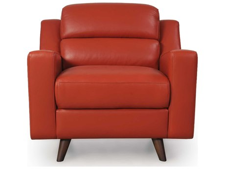 Moroni Lucia Mid-Century Brick Red Club Chair MOR35801B1349