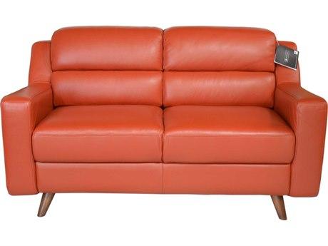 Moroni Lucia Mid-Century Brick Red Loveseat MOR35802B1349