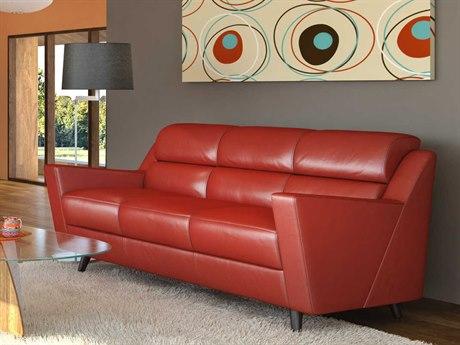 Moroni Lucia Mid-Century Brick Red Sofa MOR35803B1349