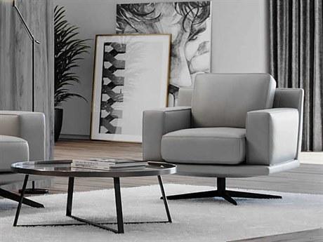 Moroni Mercier Light Grey Swivel Accent Chair