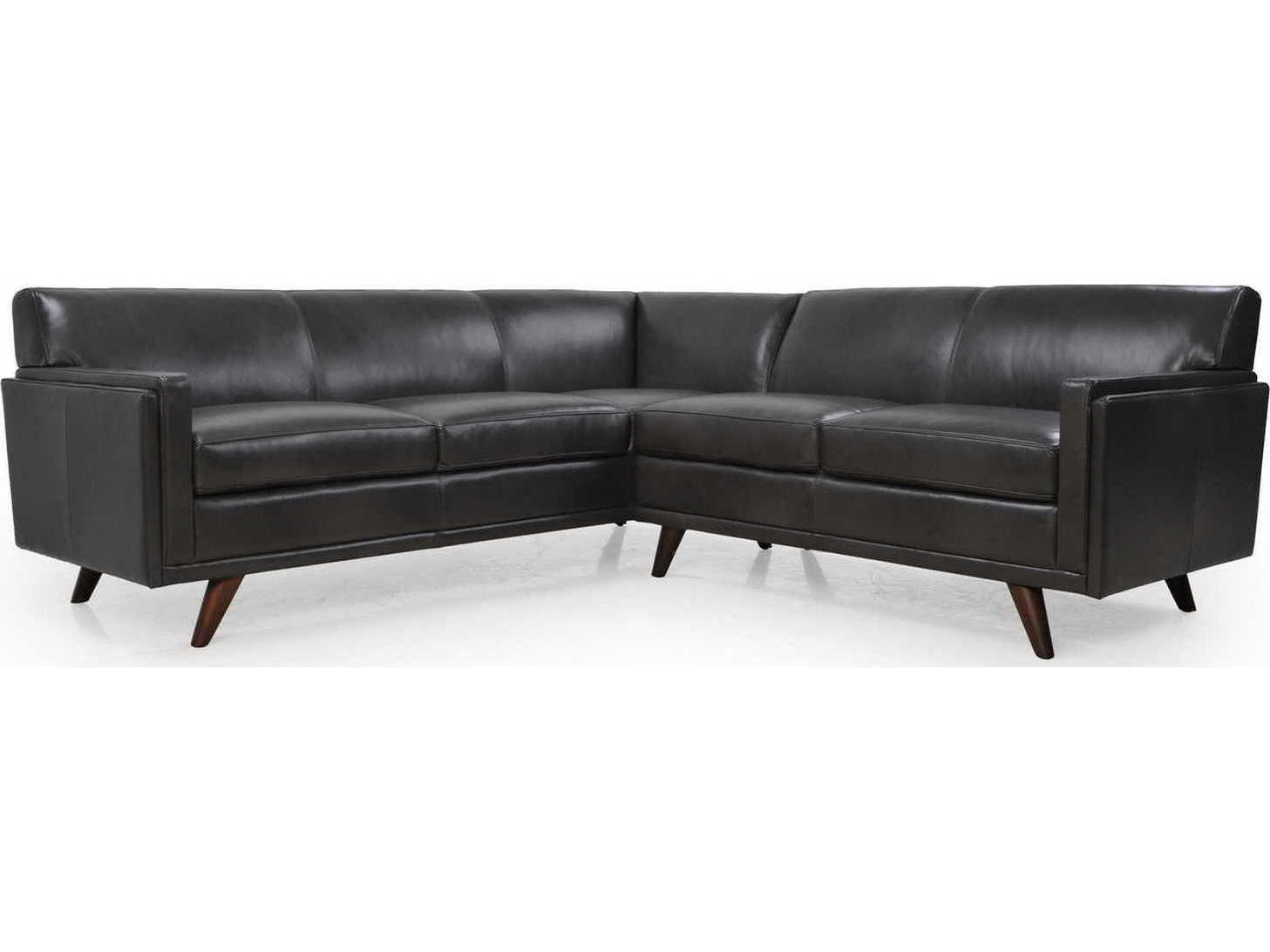 Moroni Milo Mid Century Charcoal Two Piece Sectional Sofa