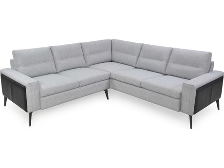 Moroni Trina Light Grey / Argent Two-Piece Sectional Sofa