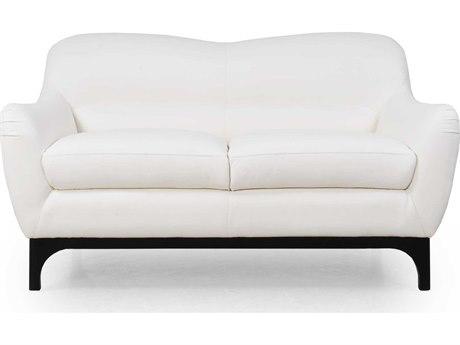 Moroni Wollo Mid-Century Pure White Loveseat MOR35702DOS1188