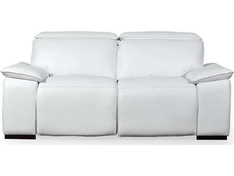 Moroni Yorbita Pure White Loveseat Sofa