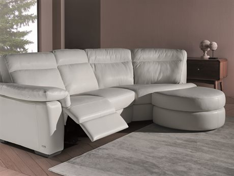 Natuzzi Editions Brivido Left Arm Facing Electric Motion Sectional Sofa