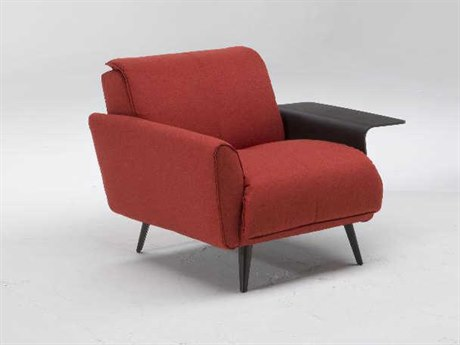 Natuzzi Editions Talento Accent Chair with Right Arm Shelf