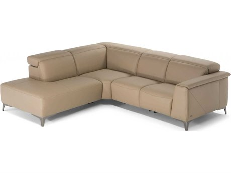 Natuzzi Editions Trionfo Sectional Sofa with Left Terminal Armless Chair