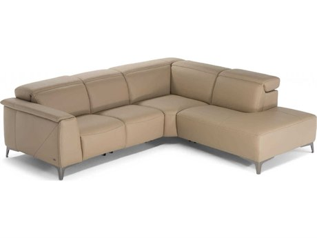 Natuzzi Editions Trionfo Sectional Sofa with Right Terminal Armless Chair