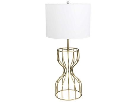 Noir Furniture Perry Antique Brass Buffet Lamp NOILAMP623MBSH