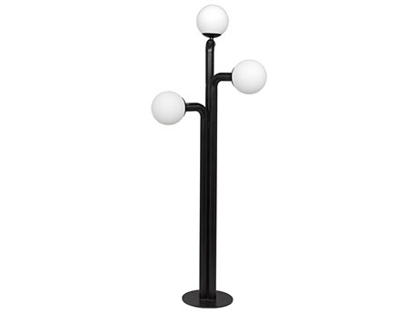Noir Furniture Bellevue Glass Three-Light Floor Lamp