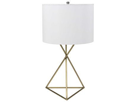 Noir Furniture Triangle Antique Brass Table Lamp NOILAMP459MBSH