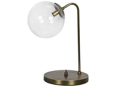 Noir Furniture Knick Antique Brass Table Lamp
