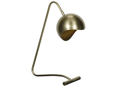 Noir Furniture Merla Antique Brass Table Lamp NOILAMP592MB