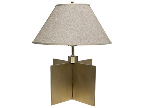 Noir Furniture Architectural Antique Brass Table Lamp NOILAMP642MBSH