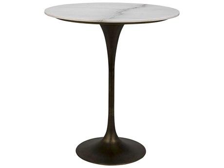 Noir Furniture Aged Brass 36'' Wide Round Bar Height Dining Table NOIGBAR001AB36