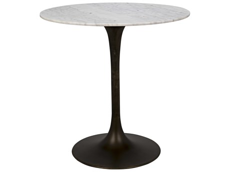 Noir Furniture Aged Brass 40'' Wide Round Bar Height Dining Table NOIGBAR001AB40