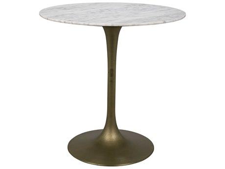Noir Furniture Antique Brass 40'' Wide Round Bar Height Dining Table NOIGBAR001MB40