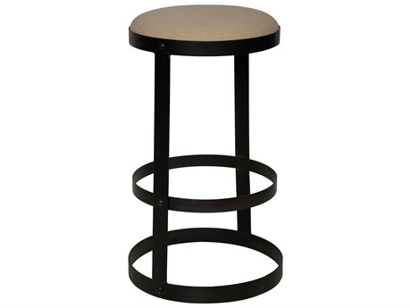 Noir Furniture Washed Walnut Side Bar Height Stool