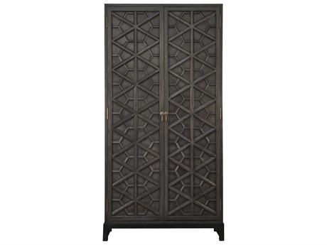 Noir Furniture Bedroom Storage Pale Wardrobe Armoire NOIGHUT118P