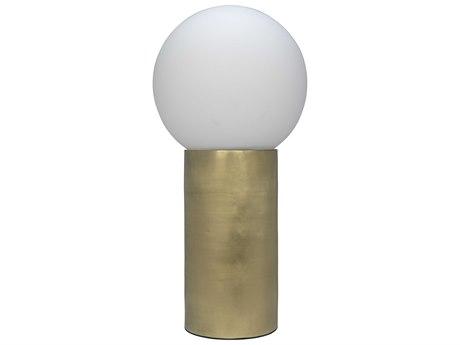 Noir Furniture Antique Brass Buffet Lamp NOILAMP726MB