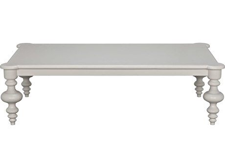 Noir Furniture Solid White 64'' Wide Rectangular Coffee Table